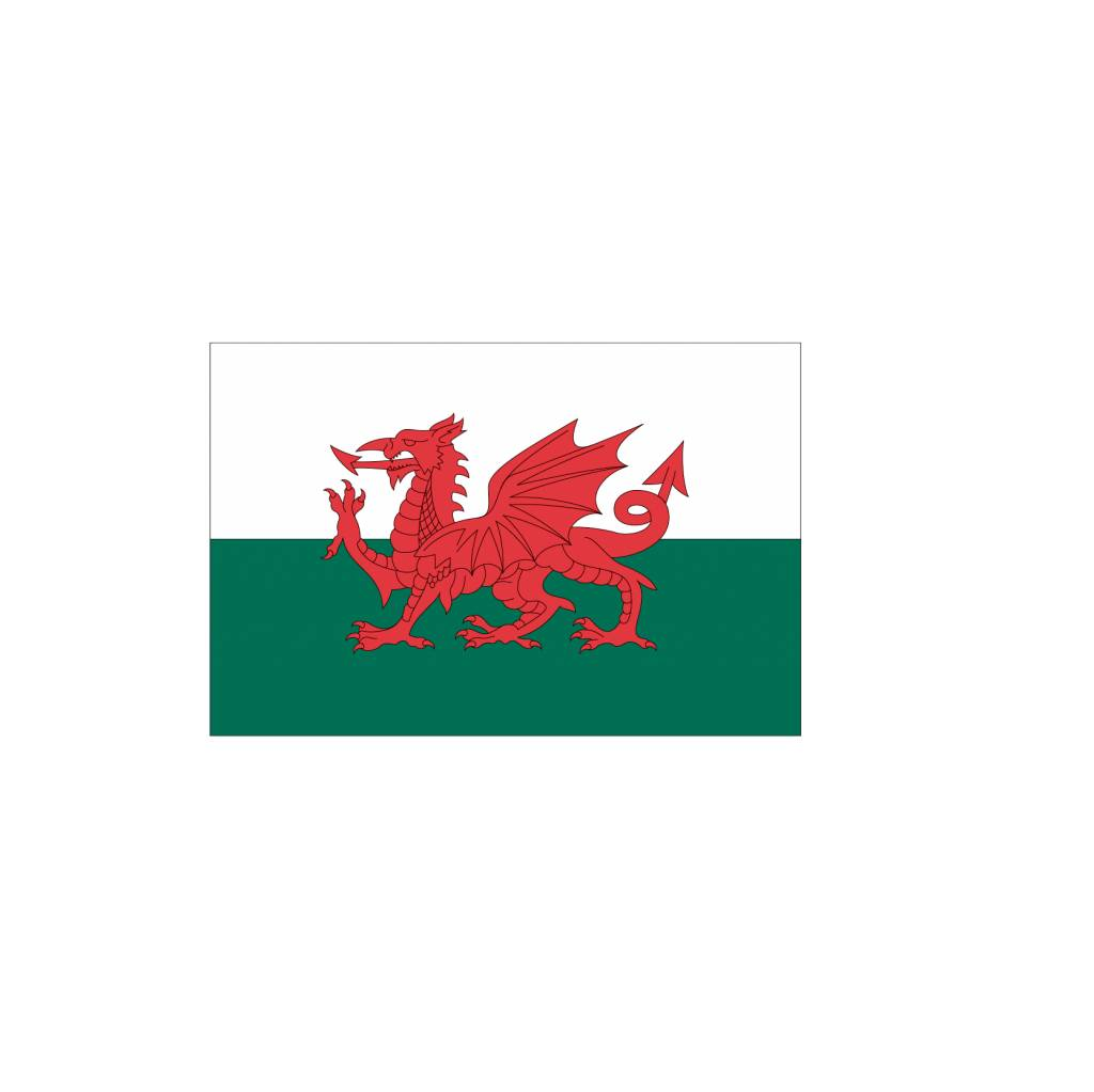Vlag sticker Wales