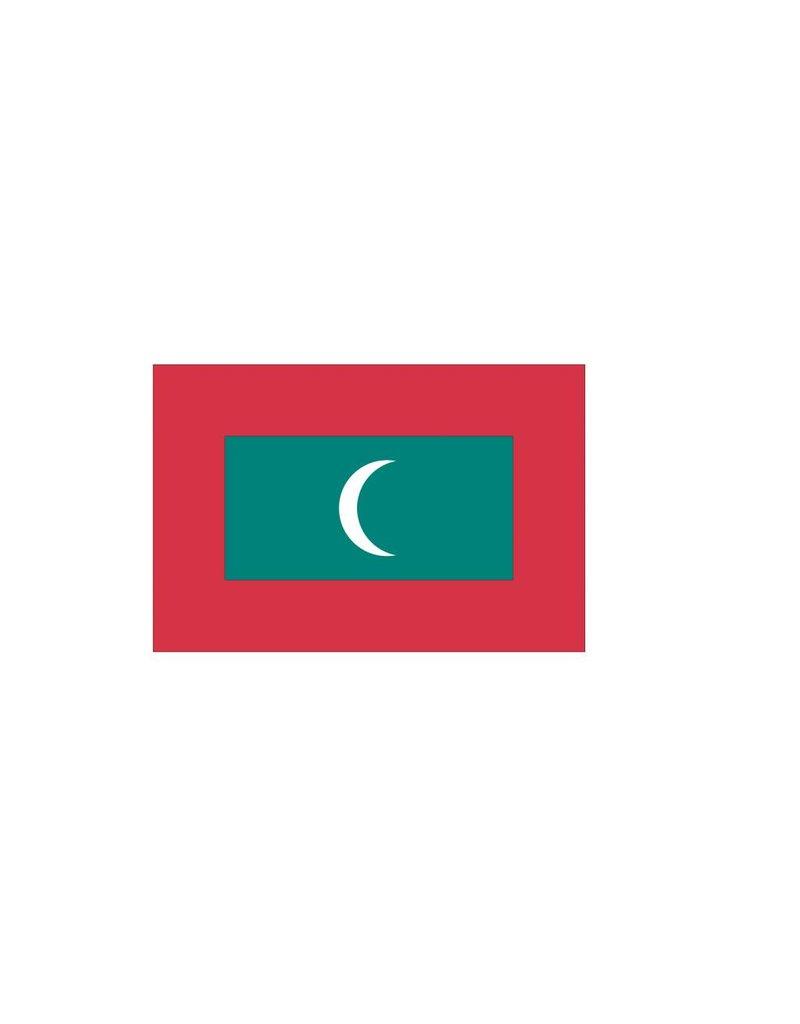 Malediven vlag sticker