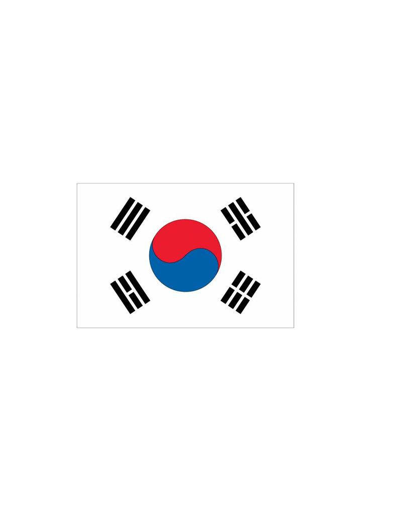Zuid-Korea vlag sticker