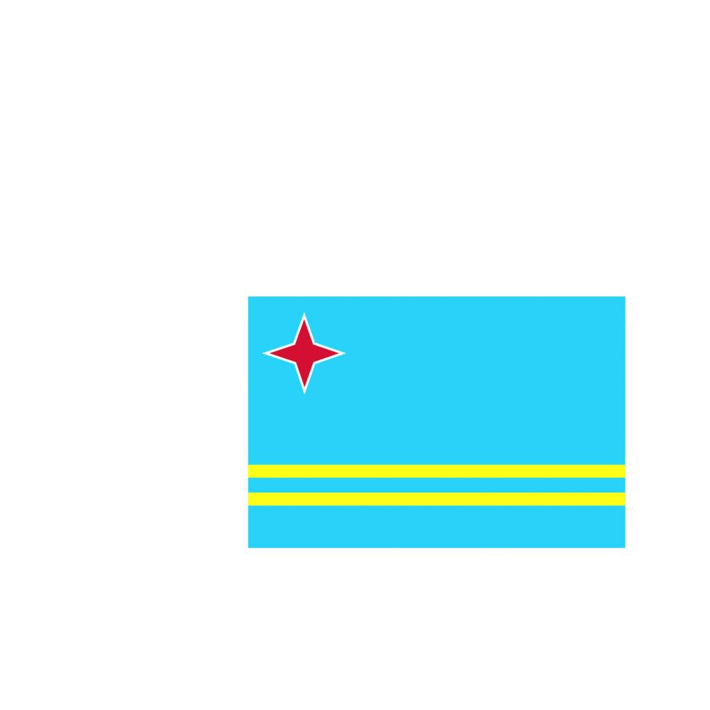 Aruba vlag sticker