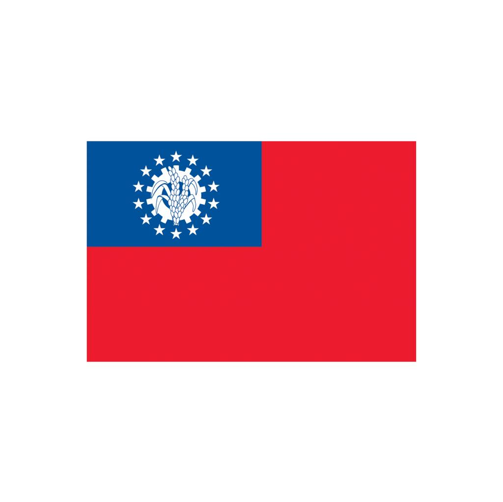 Birma vlag sticker