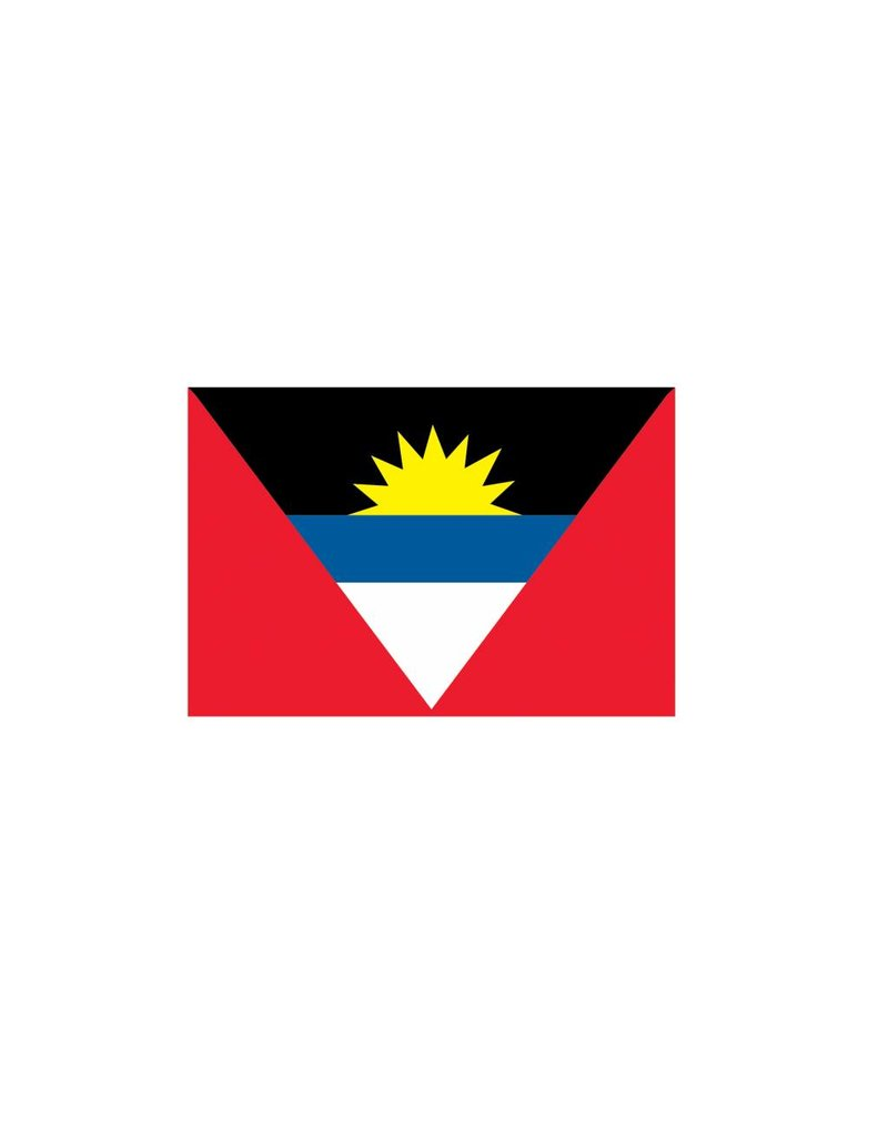 Antigua & Barbuda vlag Sticker