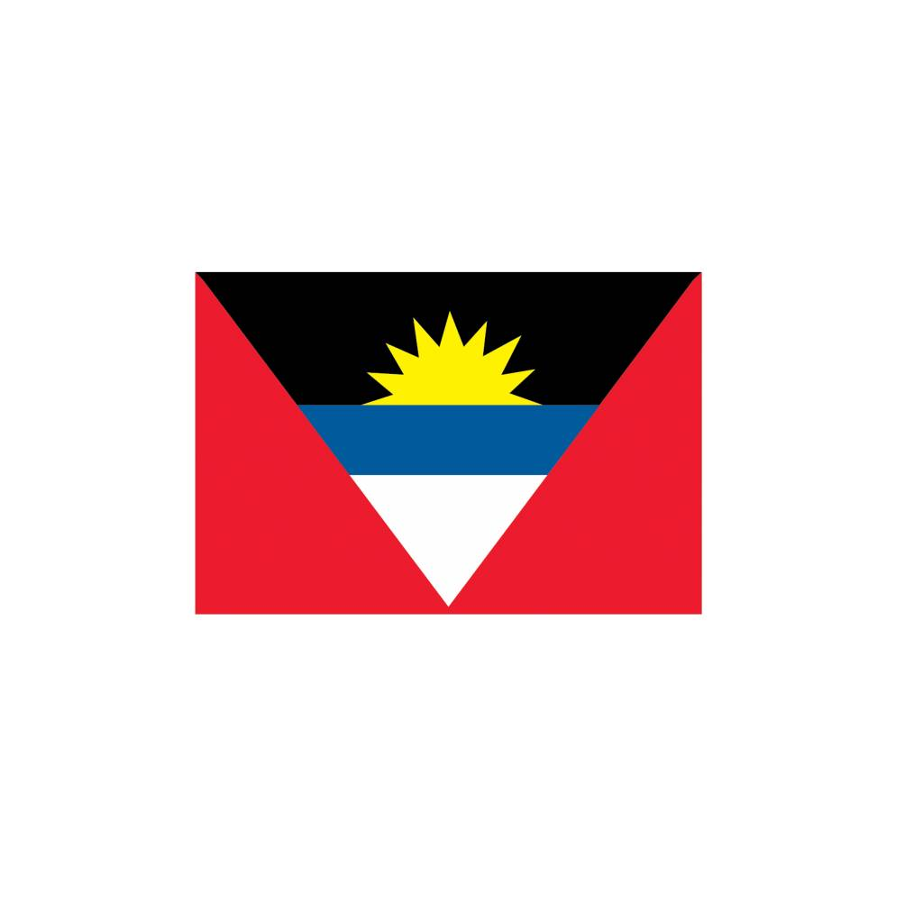 Antigua & Barbuda vlag Sticker
