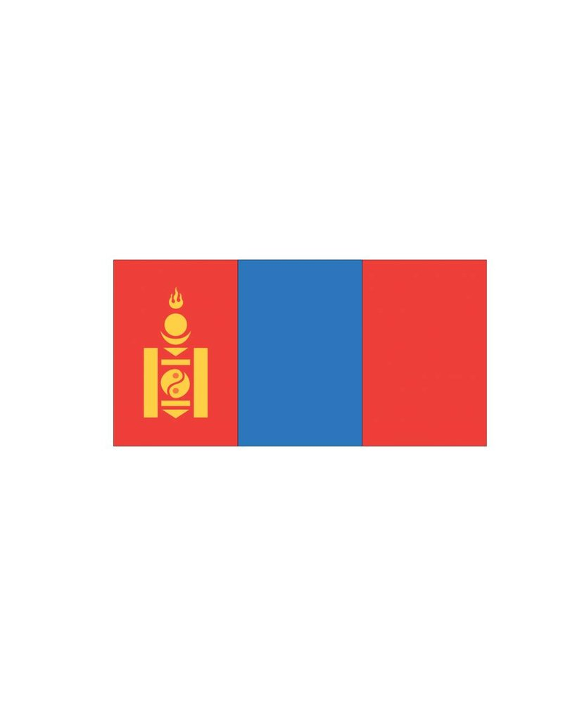 Mongoolse vlag Sticker