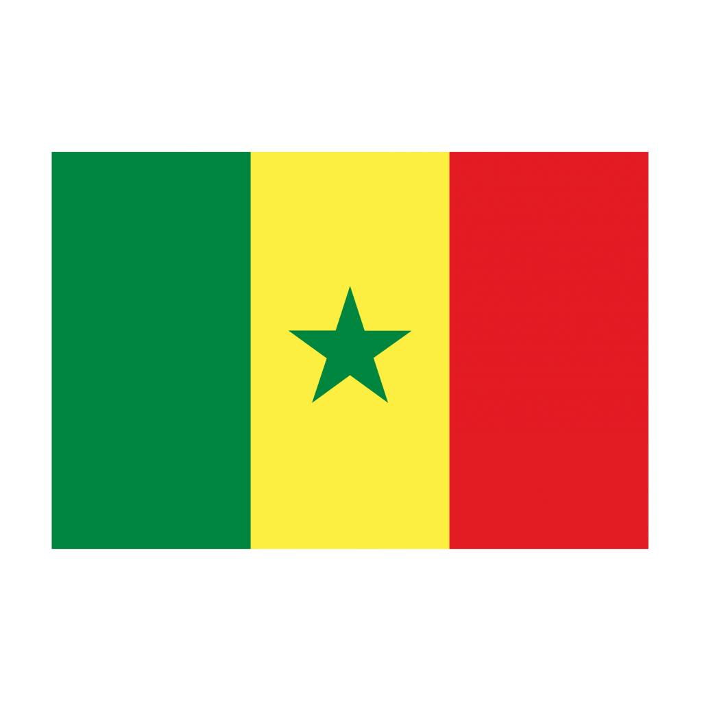 Senegal vlag Sticker