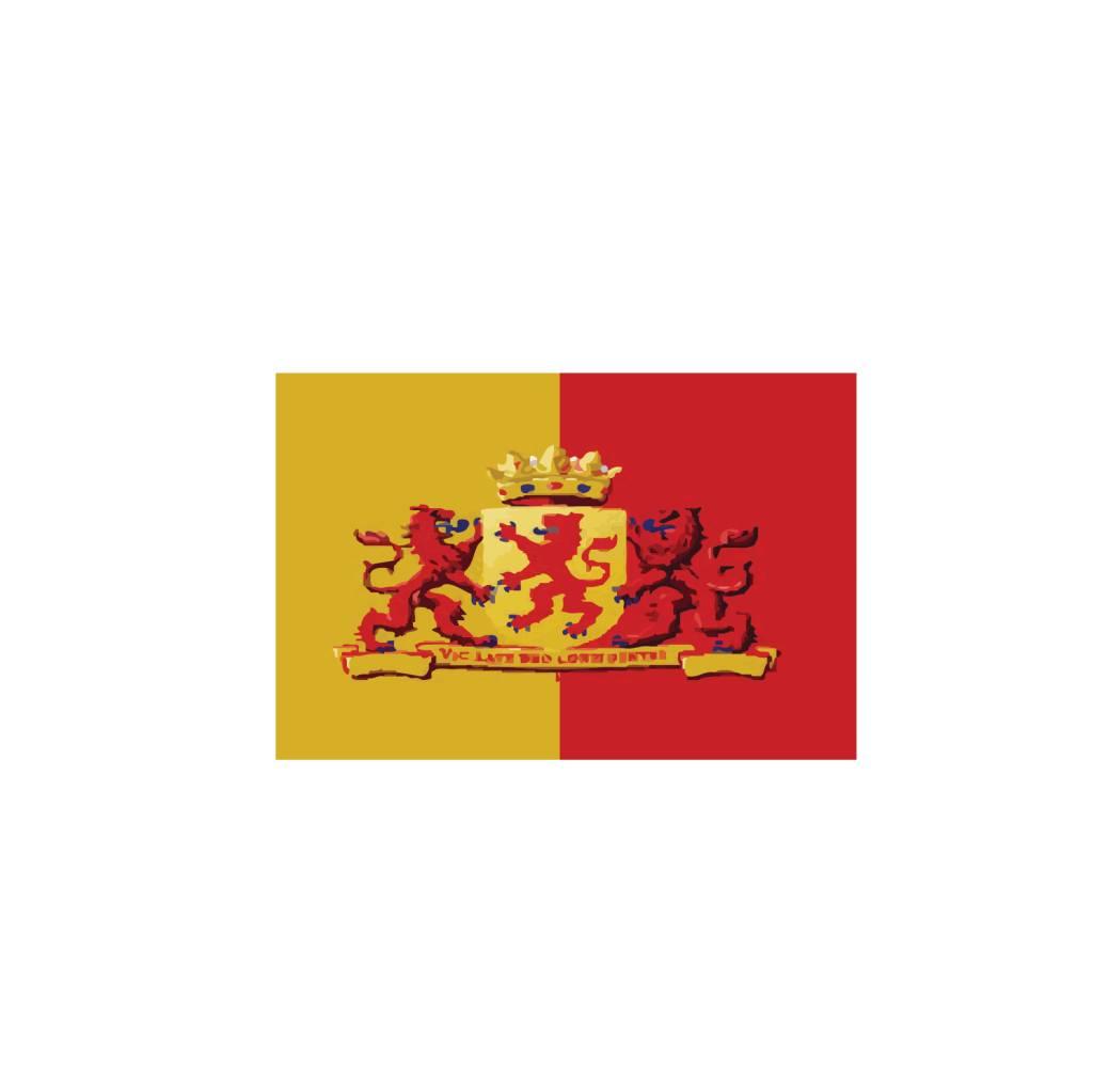 Zuid Holland vlag sticker
