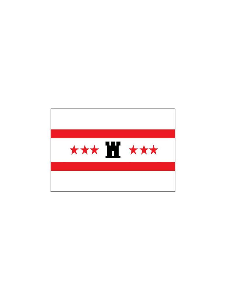 Drenthe flag sticker