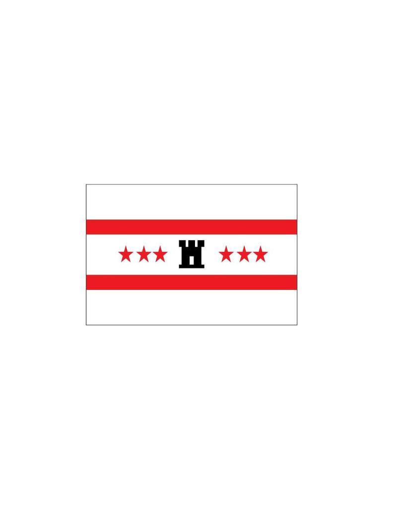 Drenthe Flagge Sticker