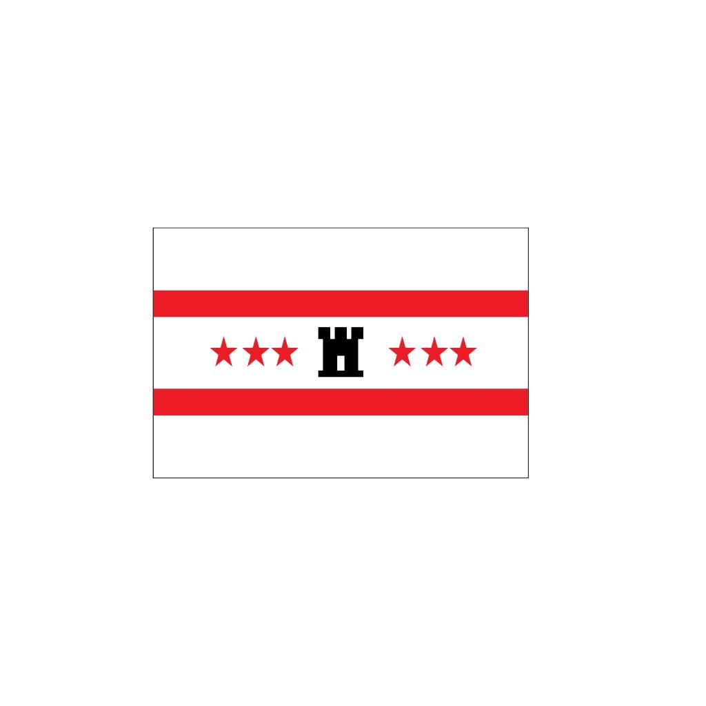 Drenthe vlag sticker
