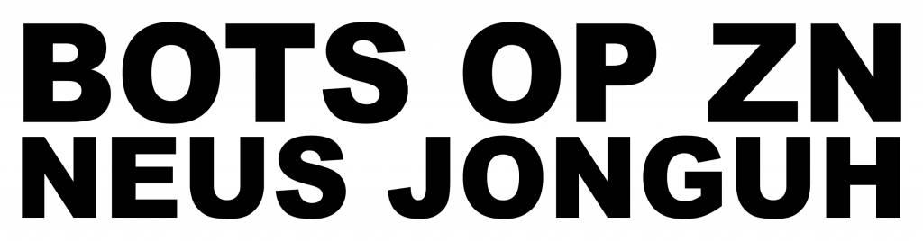 BOTS OP ZN NEUS JONGUH Sticker