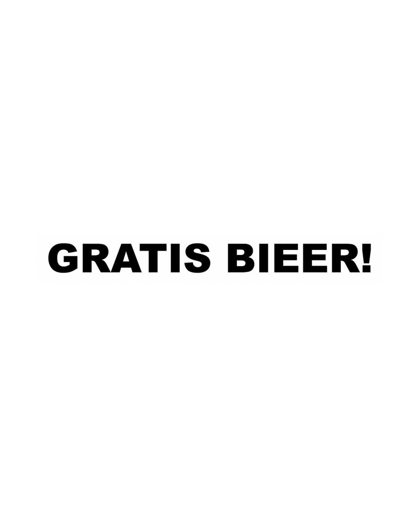 GRATIS BIEER! Sticker