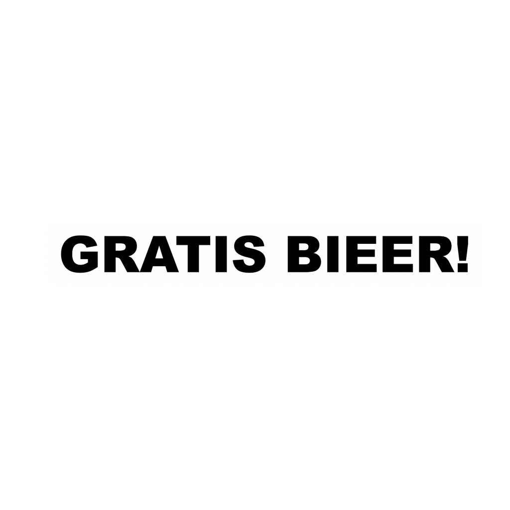 GRATIS BIEER! Sticker