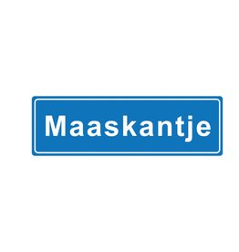 "Metal placename board ""Maaskantje"""