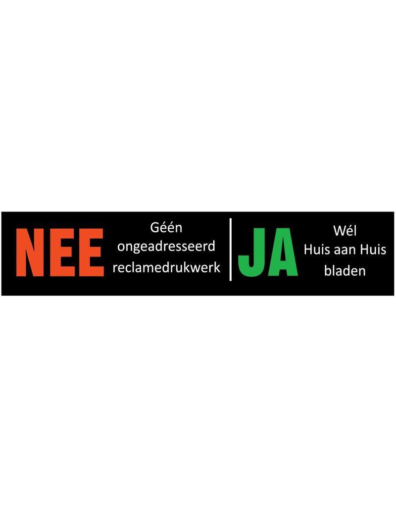 Nee - Ja sticker