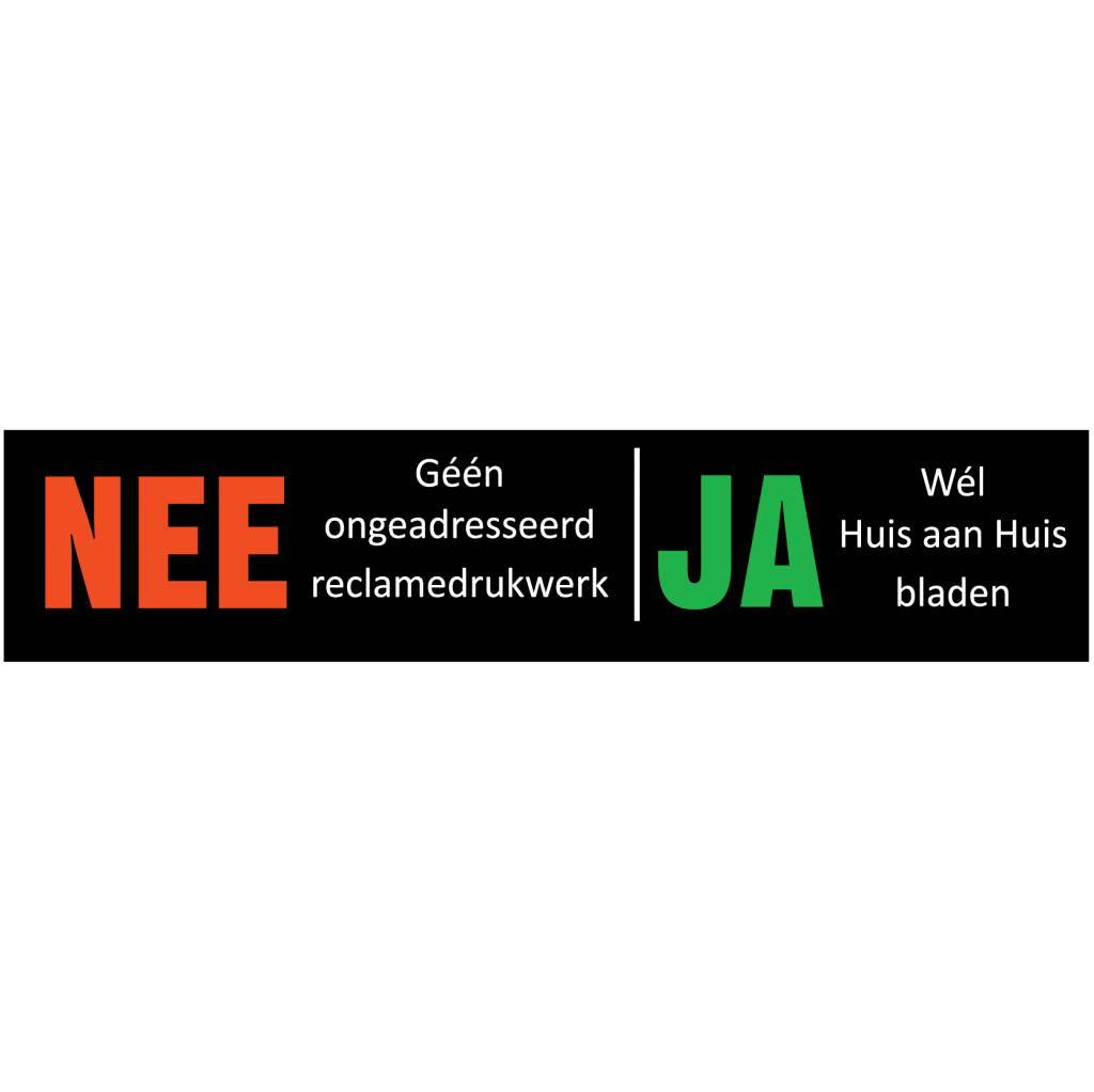 Nee - Ja sticker