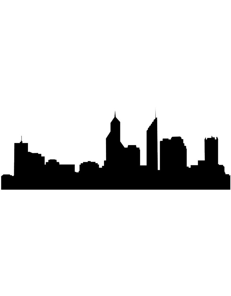Panorama urbain Perth autocollant