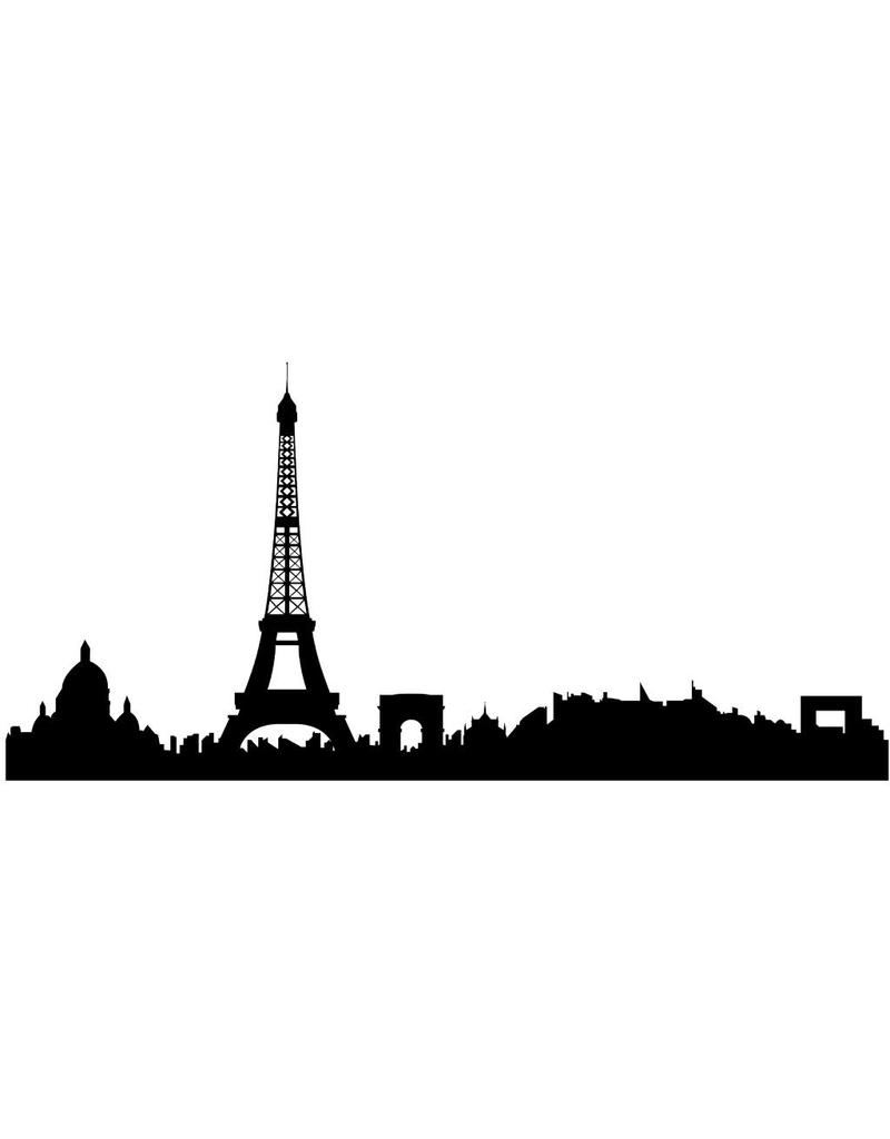 Panorama urbain Paris autocollant