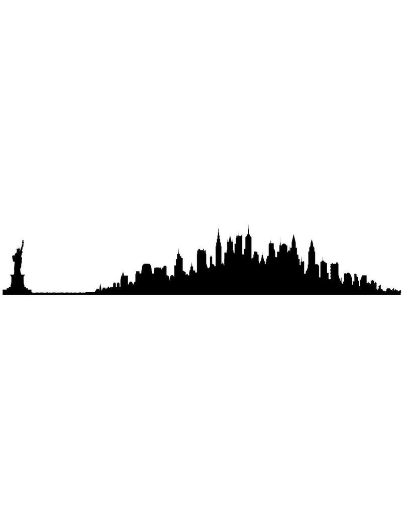 Panorama urbain NYC autocollant