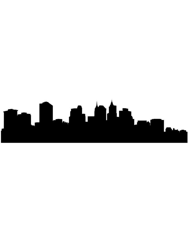 Panorama urbain Manhattan autocollant