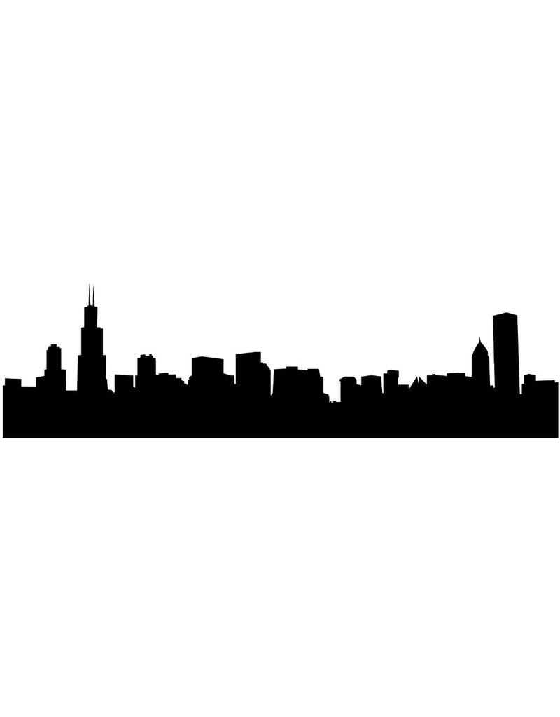 Skyline Chicago Sticker