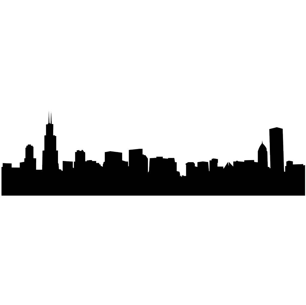 Skyline Chicago Sticker