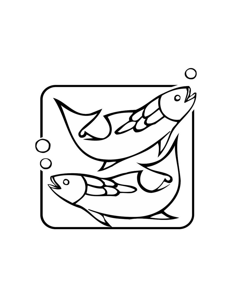 Poissons constellation 1 autocollant