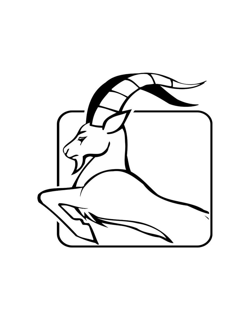 Zodiac Capricorne autocollant 2