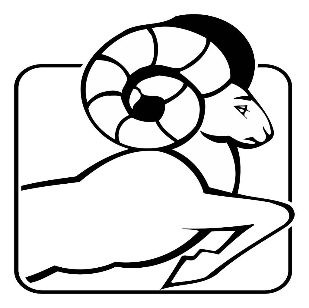 Aries zodiac sticker 1