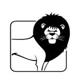 Lion constellation1 autocollant