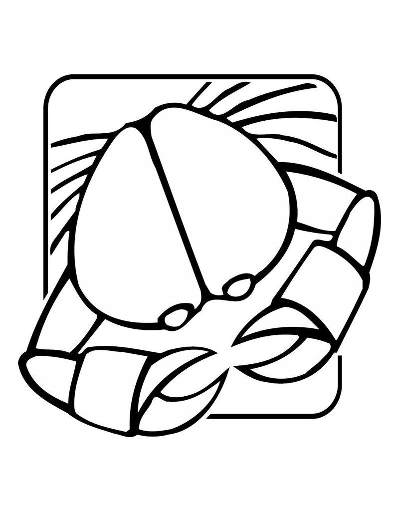 Lobster constellation sticker 2