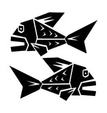 Fishes zodiac sticker