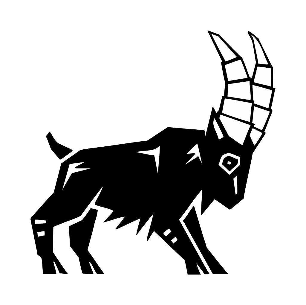 Steinbock Sternzeichen Sticker