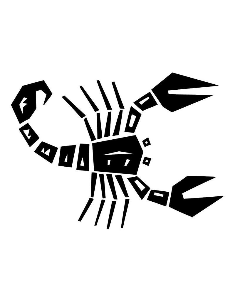 Scorpion constellation autocollant
