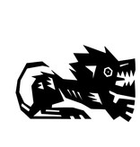 Lion constellation autocollant
