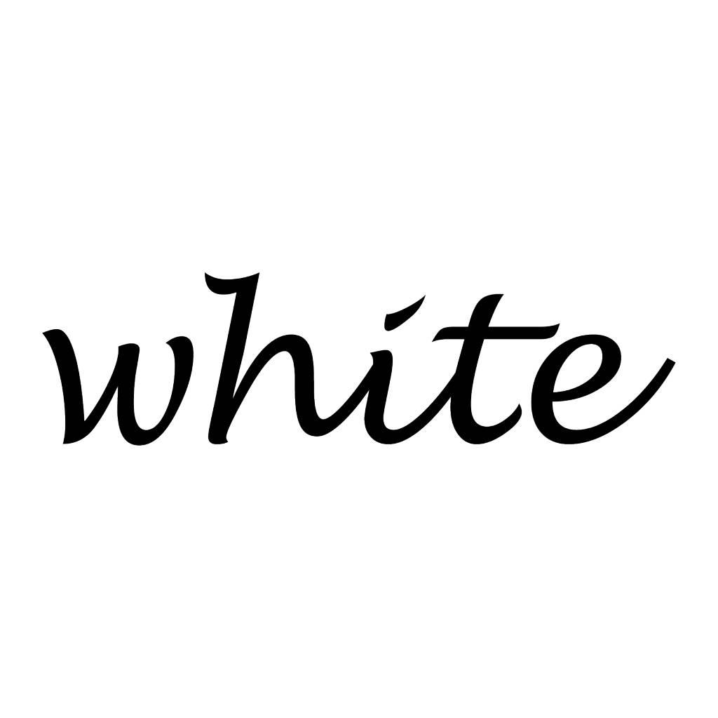 White Klebebuchstaben