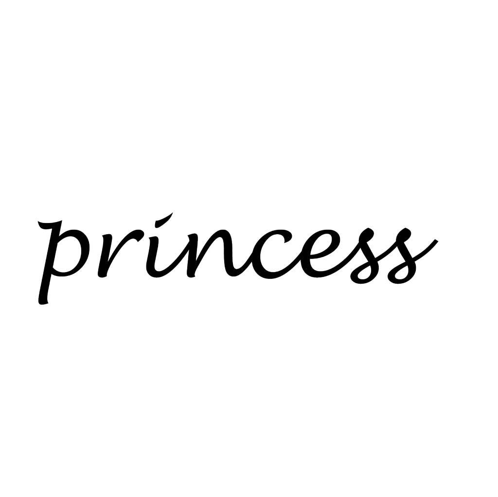 Princess Klebebuchstaben