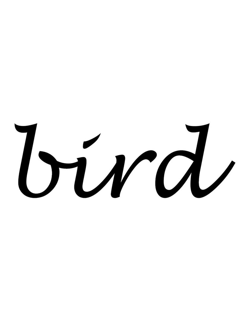 Bird Letter Stickers