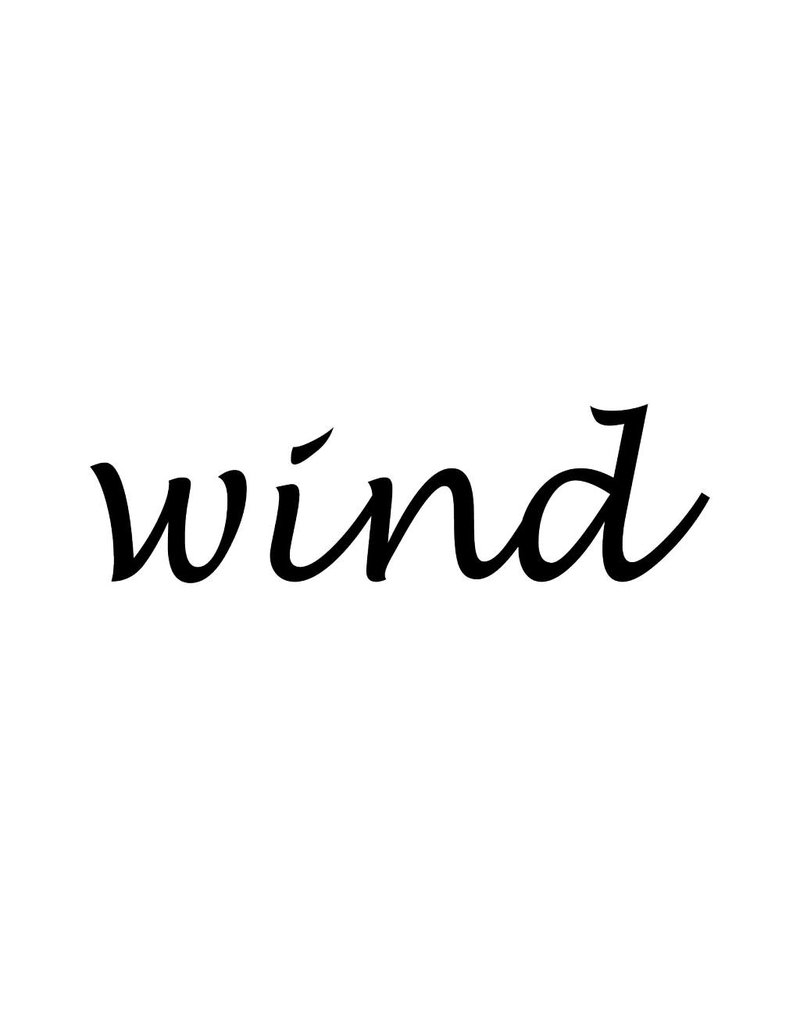 Wind Letter Stickers