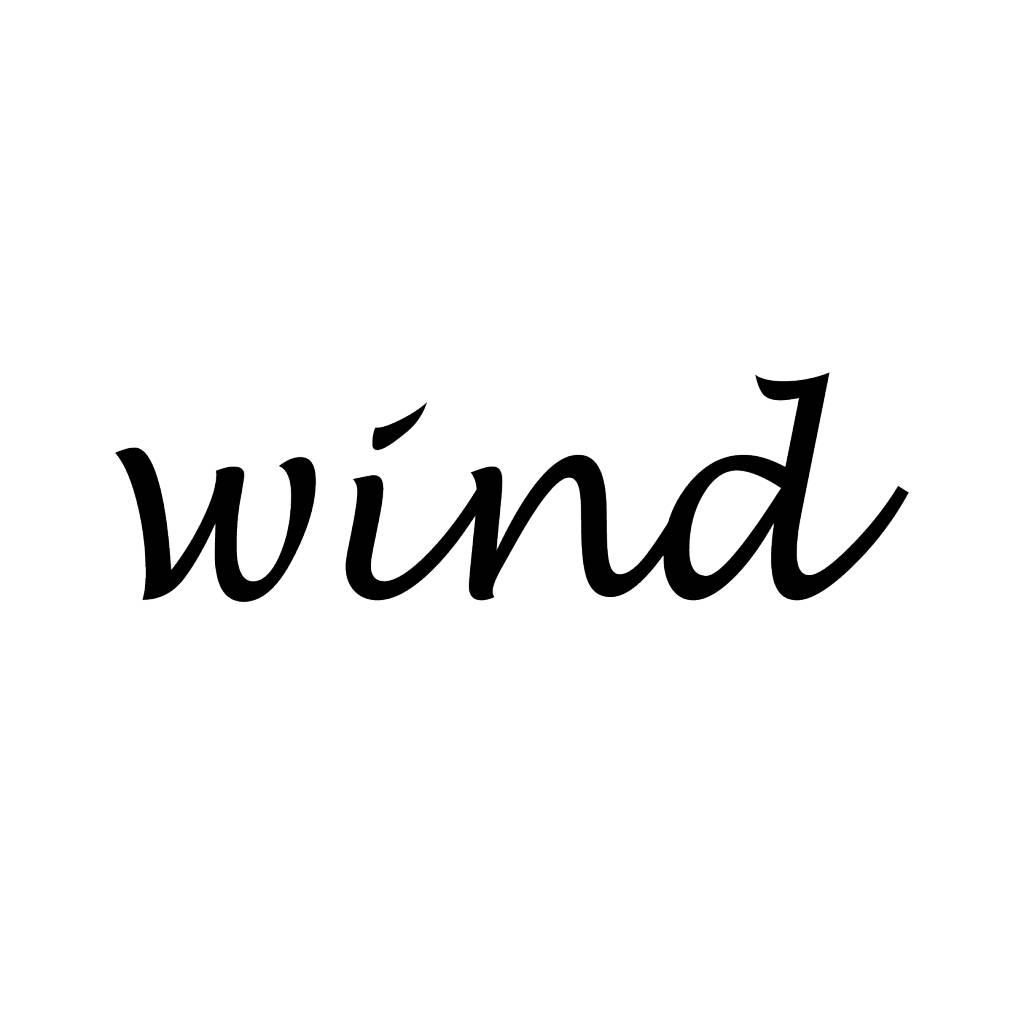 Wind Klebebuchstaben