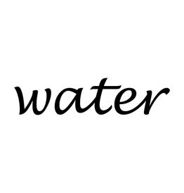 """Letras: """"Water """""""