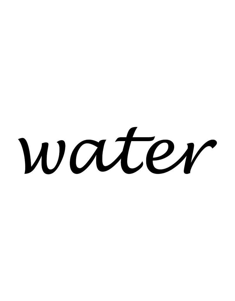 Water Klebebuchstaben