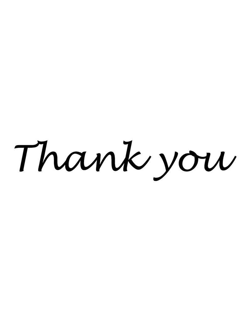 Thank you Klebebuchstaben