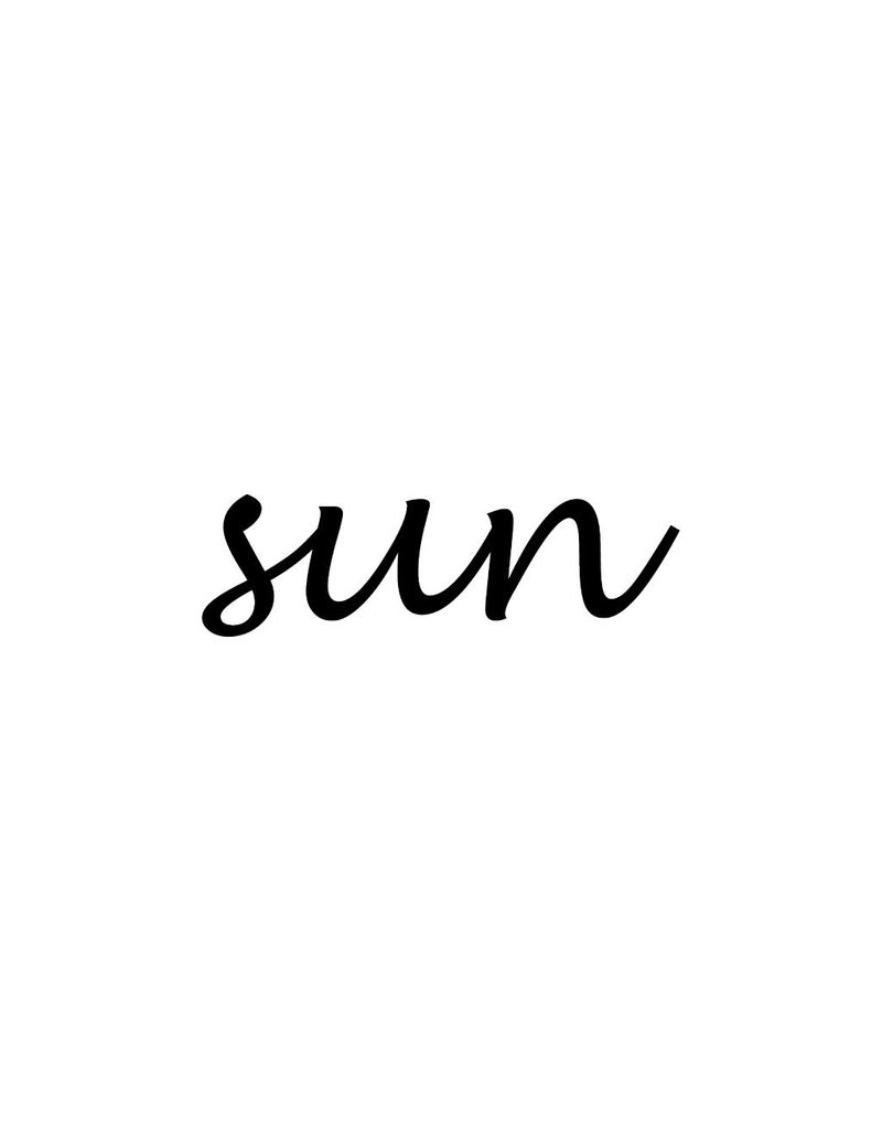 Sun lettres adhésives