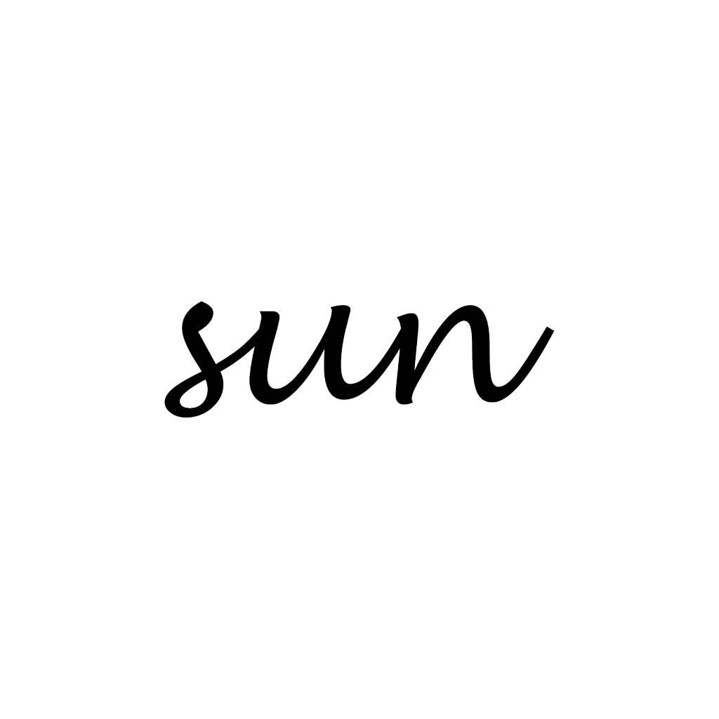 Sun Klebebuchstaben