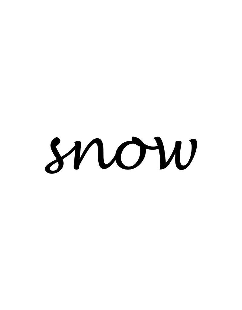 Snow Klebebuchstaben