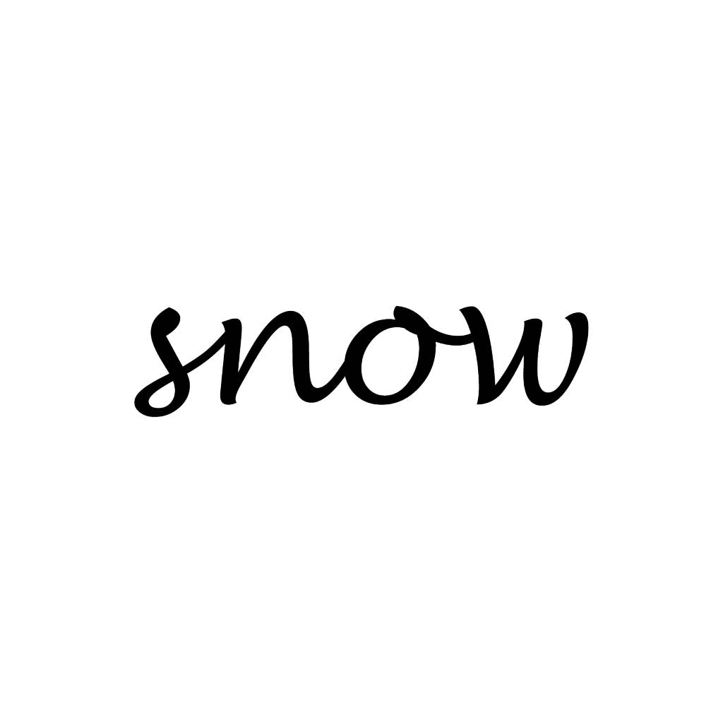 Snow Letter Stickers