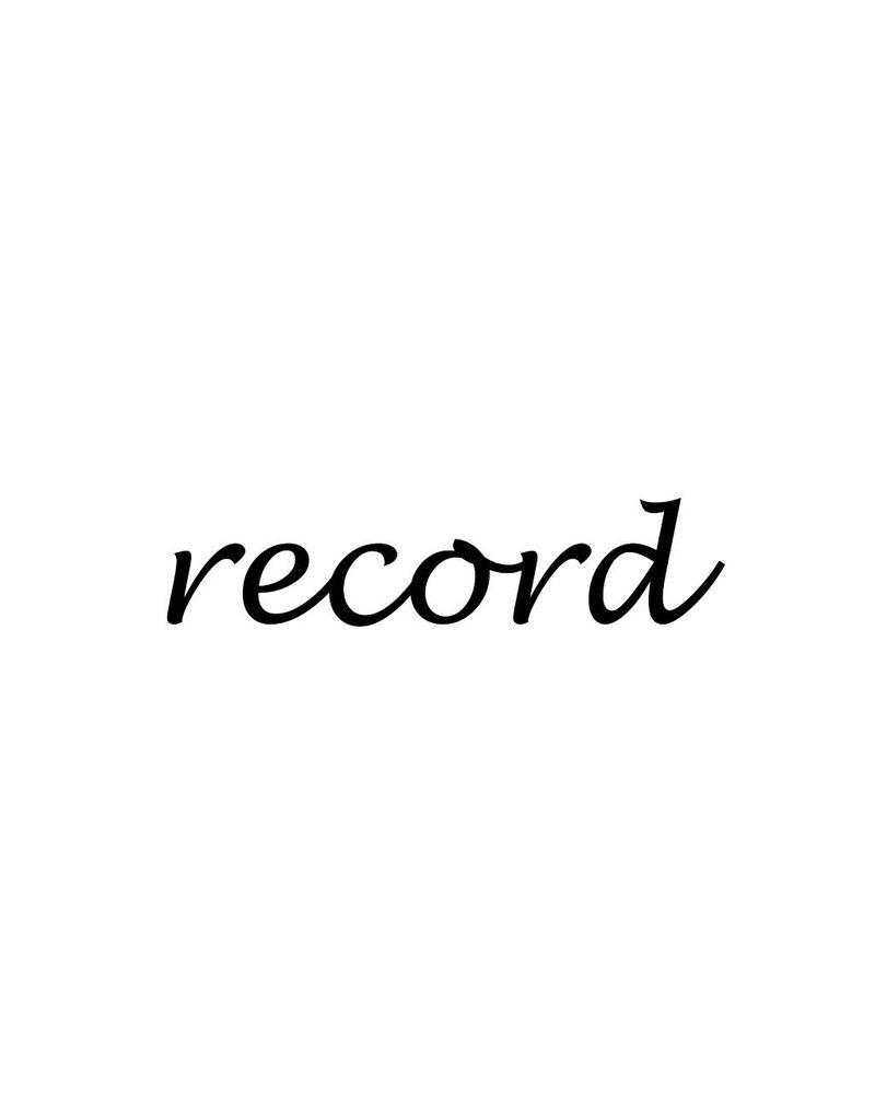 Record Klebebuchstaben