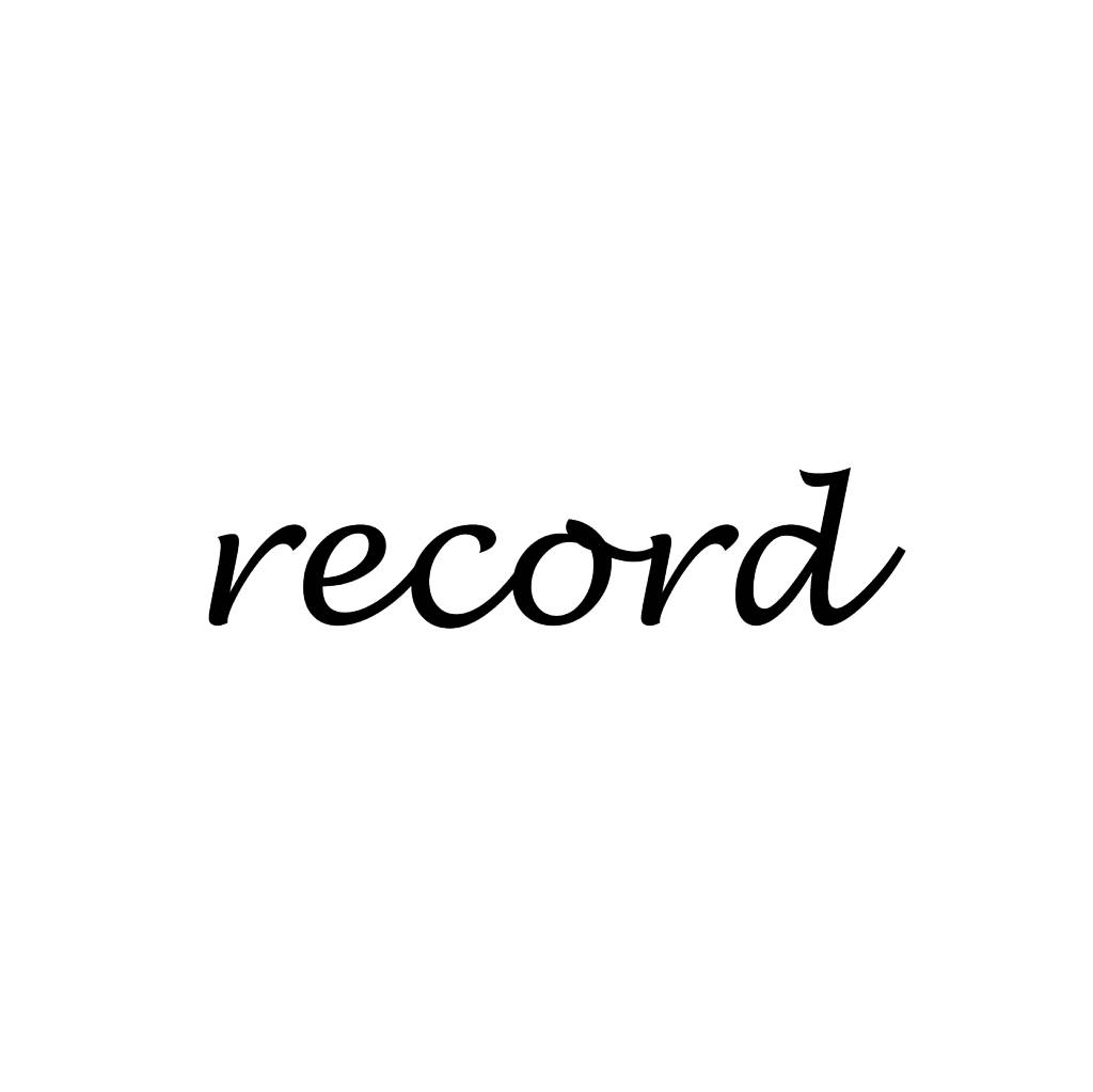 Record Letter Stickers