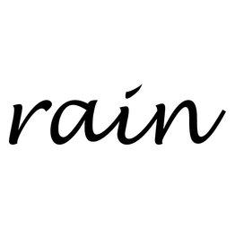 Rain Klebebuchstaben