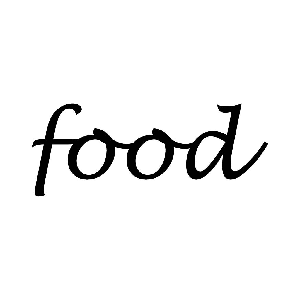 Food Klebebuchstaben
